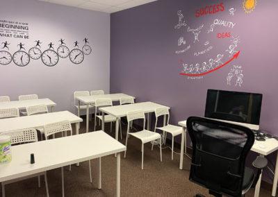 Oakville online learning centre classroom